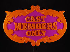 Toon Town Inspired Cast Members Only Prop Sign / Plaque Replica