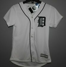 MLB Authentic Detroit Tigers Home Baseball Jersey New Womens SMALL