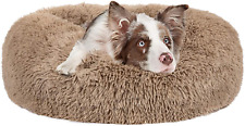 New listing Mixjoy Calming Dog Bed for Small Medium Large Dogs, Faux Fur Donut Cat Puppy Pet