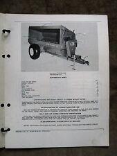 John Deere 87 Flail Manure Spreader Parts Catalog Manual ORIGINAL