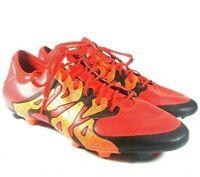 Adidas X 15.1 FG/AG Soccer Cleats 11.5 Solar Orange Black Mens S83148