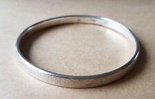 """An Antique Child Size 6"""" Silver Bangel Bracelet. Chester Hallmark"""