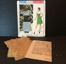 Vogue Paris Sewing Pattern Givenchy 2861 Vtg 10 Dress Semi Fitted A Line Knee