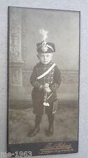 original Foto Kind in Uniform  Preussen Garde Husar Husaren Leibgardehusaren