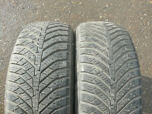 2x WINTER TYRES KUMHO 195 55 16 5-7mm FITTING AVAILABLE TESTED P649