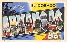 Large Letter Greetings from El Dorado Arkansas postcard