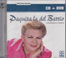 Paquita La Del Barrio Con Mariachi Y Banda CD+DVD New Nuevo Sealed