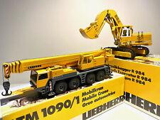 Liebherr LTM 1090 Mobilkran + R 984 Hydraulikbagger Conrad OVP 1:50
