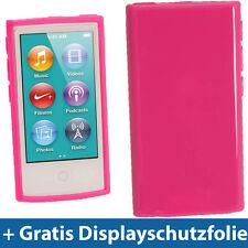 Rosa Etui TPU für Neu Apple iPod Nano 7. Gen Generation 7G 16GB Gel Tasche Hülle