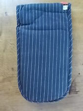 Terence Conran Designer Double Oven Gloves Mits Black with White stripes BNWT