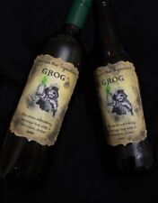 Handmade 'Scumm Bar Signature Grog' Pirate Bottle Stickers - Set of 8