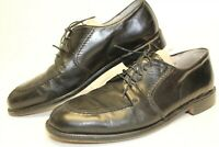 Pronto Uomo Mens 10 M Black Leather Oxfords Dress Shoes 4337-02 Italy Made