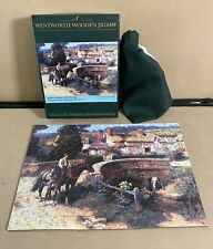 Wentworth Wooden Jigsaw Puzzle - Sunlit Cottages by the Bridge  - 250 Pieces