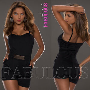 New European Women's Overall Jumpsuit Size 8 10 Hot Pants Top One Piece Outfit