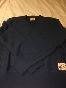 TODD SNYDER + CHAMPION LONG SLEEVE BLUE CREW NECK SWEATSHIRT SIZE LARGE NWT