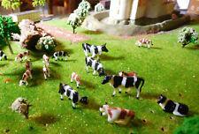 10 Kühe, Rinder in verschiedenen Posen, Spur H0