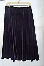 Coldwater Creek Black Velvet Paneled Skirt  Size M  NWT