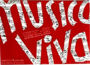 Original vintage poster MUSICA VIVA MUNICH CONCERTS c.1950
