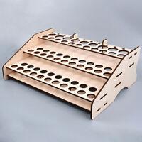 Wooden Paint Storage Rack Modular Organizer Wood Bottle Holder W 81/74 Holes New