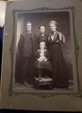 Antique Vintage Andrews Family Photograph Mom Dad Daughter Grandmother