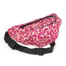 Unisex Retro Bum Bag Fuchsia Pink Flower Floral Pattern Holiday Festival Camping