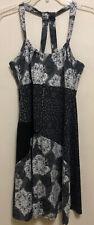 Lola by AFG Women's Black/Gray Multi Print Athletic Stretch Sports Dress Size M