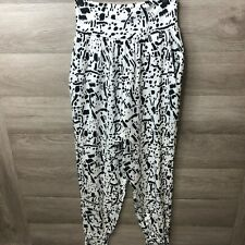 Asos Womens Size 4 White High Waisted Jogger Taper Pants Loose NEW