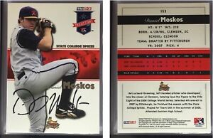 Daniel Moskos Signed 2008 TRISTAR PROjections #153 Card State College Spikes