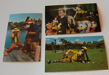 Disney World Postcards  (3)  Bear's - Mickey - Goofy  from the 70's