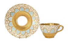 More details for rare coalport jewelled chicago exhibition tea cup and saucer circa 1890