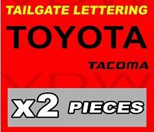 "TOYOTA TACOMA TAILGATE Vinyl Decal Sticker BLACK 24"""