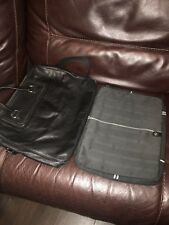 Genuine Hugo Boss Leather Briefcase Laptop Bag With Soft Case