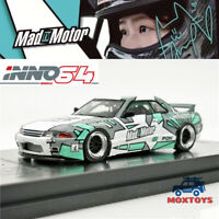 INNO64 1:64 Nissan GTR R32 Pandem MADMOTOR Echo Gao IN64-R32P-MMEG