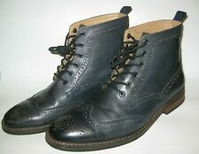 La Milano Patino Collection Men's Dress Ankle Boots Dark Navy Blue Size 10