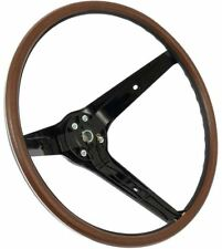 "1969 Ford Mustang Rim Blow 15"" 3 Spoke Woodgrain Steering Wheel"