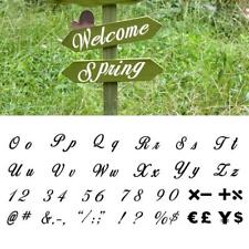 40pcs Alphabet Letter Number Symbol Drawing Painting Stencils for Wood Notebook