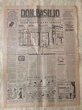 Don Basilio n.10 - 5 marzo 1950 settimanale satirico d'opposizione