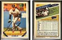 Lee Stevens Signed 1993 Topps #467 Card California Angels Auto Autograph
