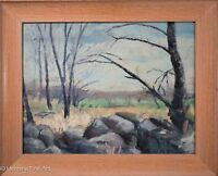 "Superb American Landscape Oil Painting by ""Kollmar"" Impressionist & FINE! c.1932"