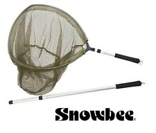 Snowbee 3-in-1 Hand Trout Landing Net #15112 Rubber Mesh Fishing Knotless