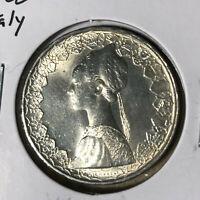 1966 Italy 500 Lire Silver Coin BU+ Condition #1
