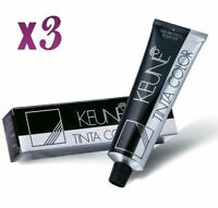 3 x Keune Tinta Color Permanent Hair Color (SELECT YOUR SHADES) 60ml each Tube