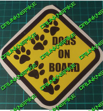 Dogs On Board Car Decal Vinyl Sticker Warning Sign Puppy