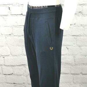 Men's True Religion Sweatpants Navy Blue Cotton Joggers Track Pants Size S - 3XL