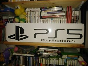 "PlayStation 5 Display, Aluminum Sign, 6"" x 24"" PS5 Sony!!!"