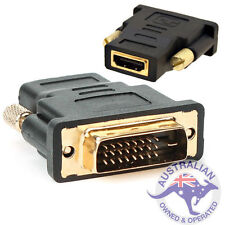 DVI D Male Dual Link Plug to HDMI Female Converter Socket Adapter For HDTV (007)