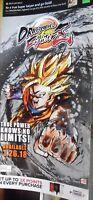 "Dragonball FighterZ Goku Poster Bandai Namco Game Store Advertisement 48""x24"""