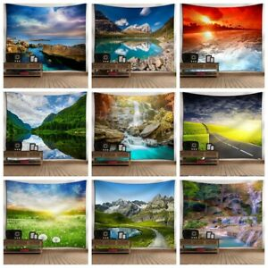 Mountain Nature Scenery Tapestry Wall Hanging Home Blanket Wall Tapestries Decor