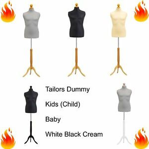 Kids Child Baby Tailors Dummy Dressmakers Bust Retail Display Fashion Mannequin