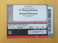 Ticket FC BAYERN MÜNCHEN - BORUSSIA DORTMUND 2013/14 Bundesliga FCB BVB Dante